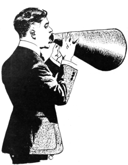 A-man-with-a-megaphone